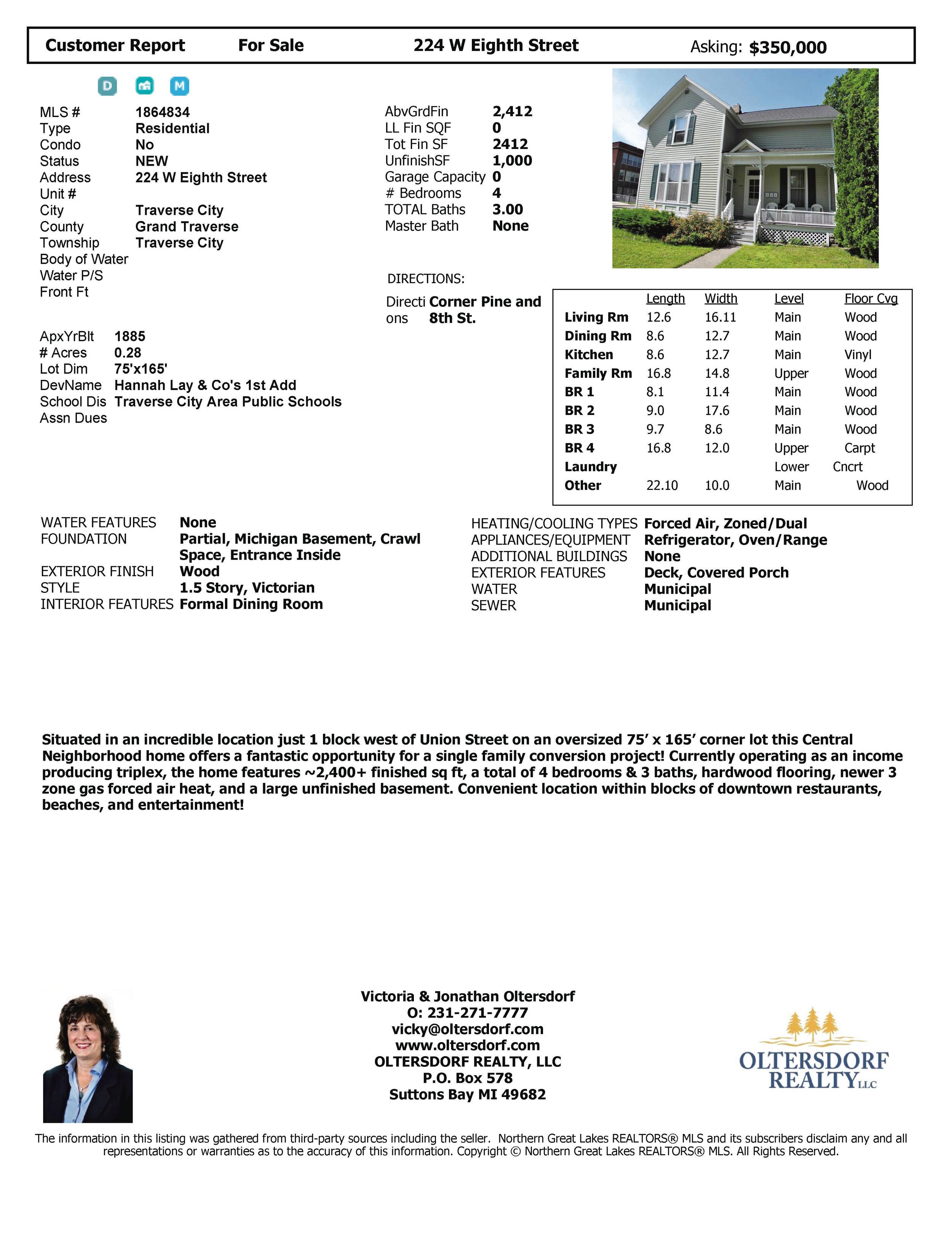 224 W Eighth St, Traverse City, MI – Downtown Traverse City Triplex Marketing Packet - For sale by Oltersdorf Realty LLC (10).jpg