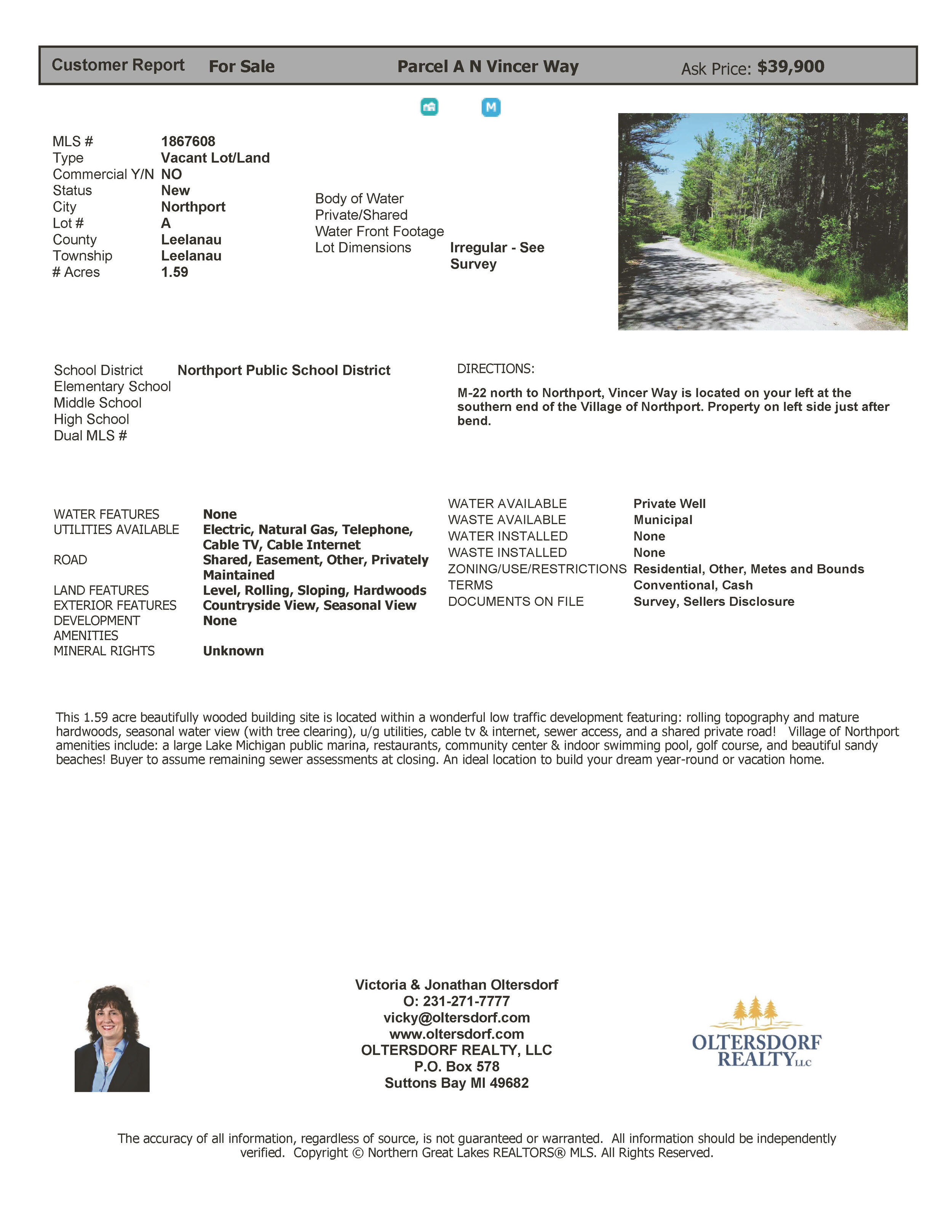 Parcel A - N Vincer Way, Northport - For Sale By Oltersdorf Realty LLC - Marketing Packet_Page_03.jpg