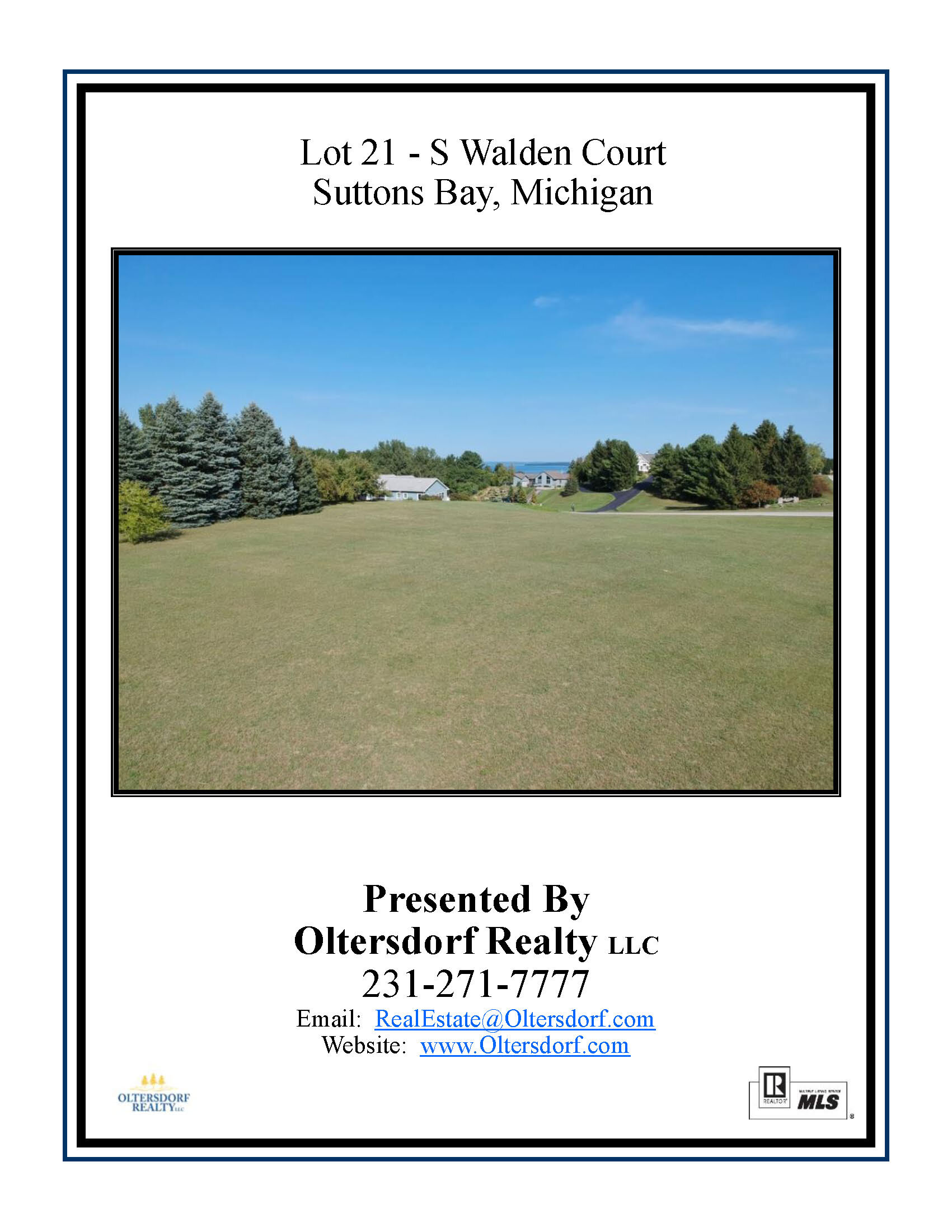 Lot 21 – S Walden Court, Suttons Bay, MI – Water View Vacant Lot Marketing Packet (1).jpg