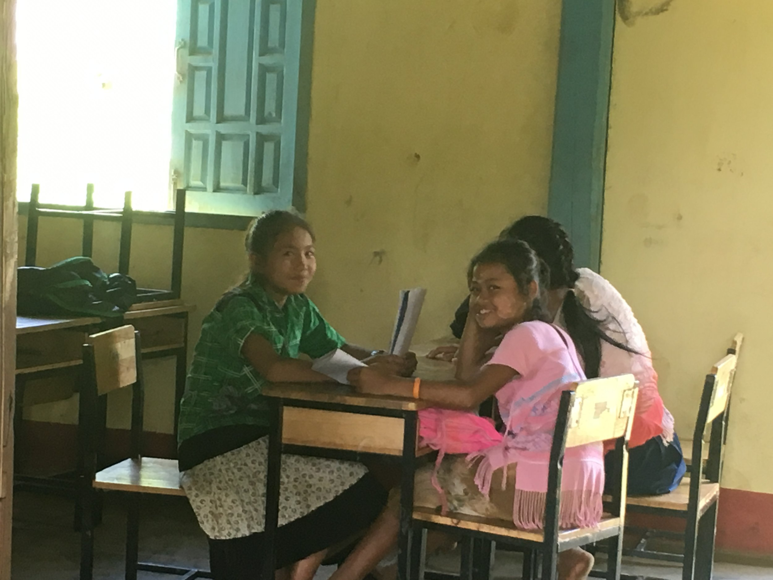 Students learning at K'law Gaw School
