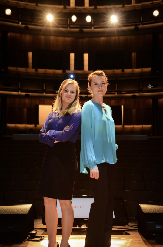EVAmore co-founders Mackenzie Stokel and Channing Moreland at Project Music's 2015 Demo Day