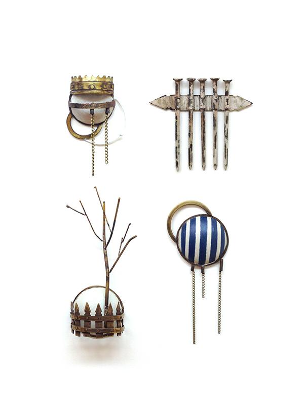 Emblems  Brass, Steel, Paint