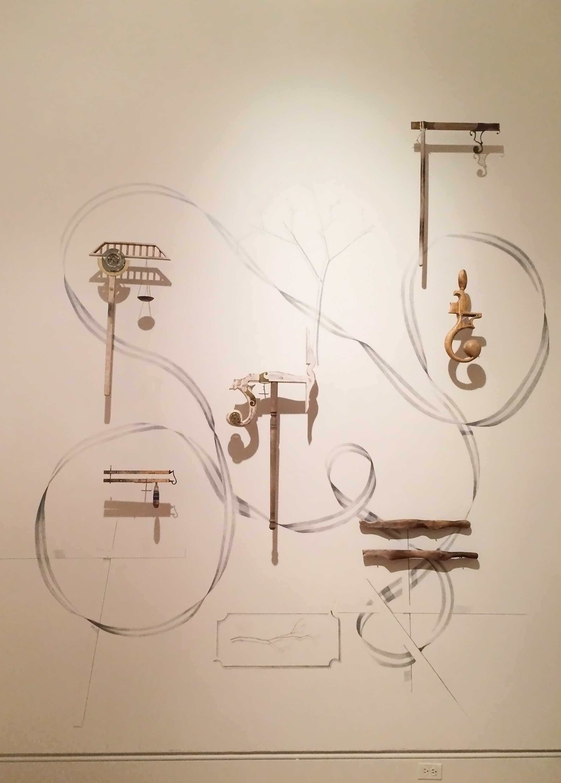 The Philosophers' Divining Tools  Georgia Museum of Art 2015 Wood, Brass, Wax, Graphite