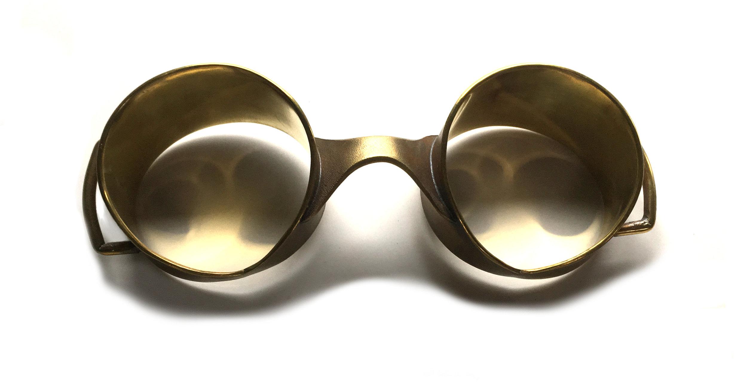 "The Woodswalker's Headlights  Brass 6.5""x2.5""x3"""