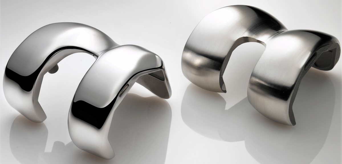 Polijsten knie implantaten - Kunstgewrichten zoals knie protheses nauwkeurig polijsten tot Ra 0.01 µm.