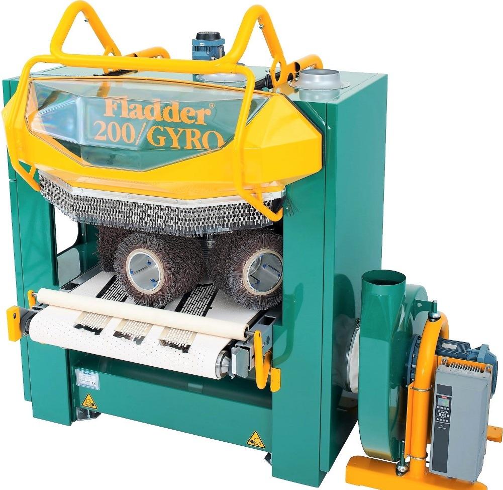 Fladder 200/GYRO ontbraammachine. Doorvoerbreedte: 1200mm.