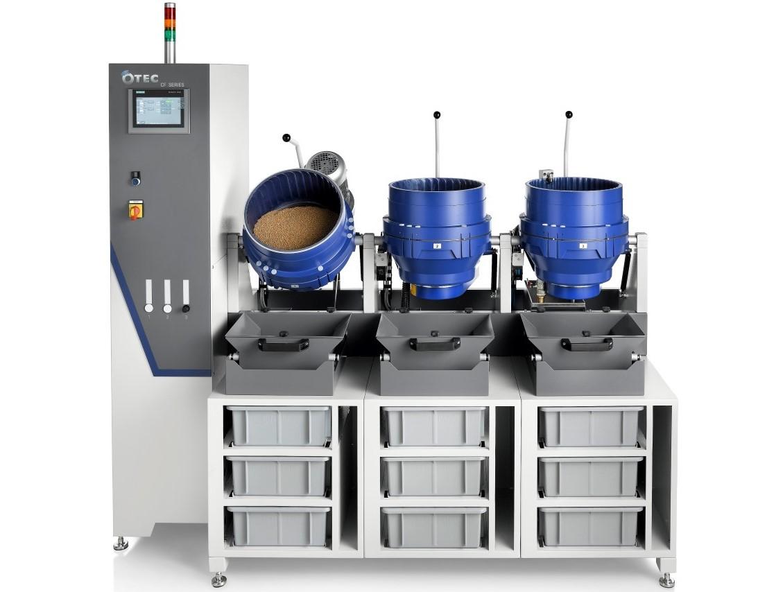 Centrifugaal techniek - - Ontbramen, glad maken, fijn slijpen en polijsten in 1 machine- Geschikt voor de precisie finish van kleine producten (< circa 100 mm)- Middels het