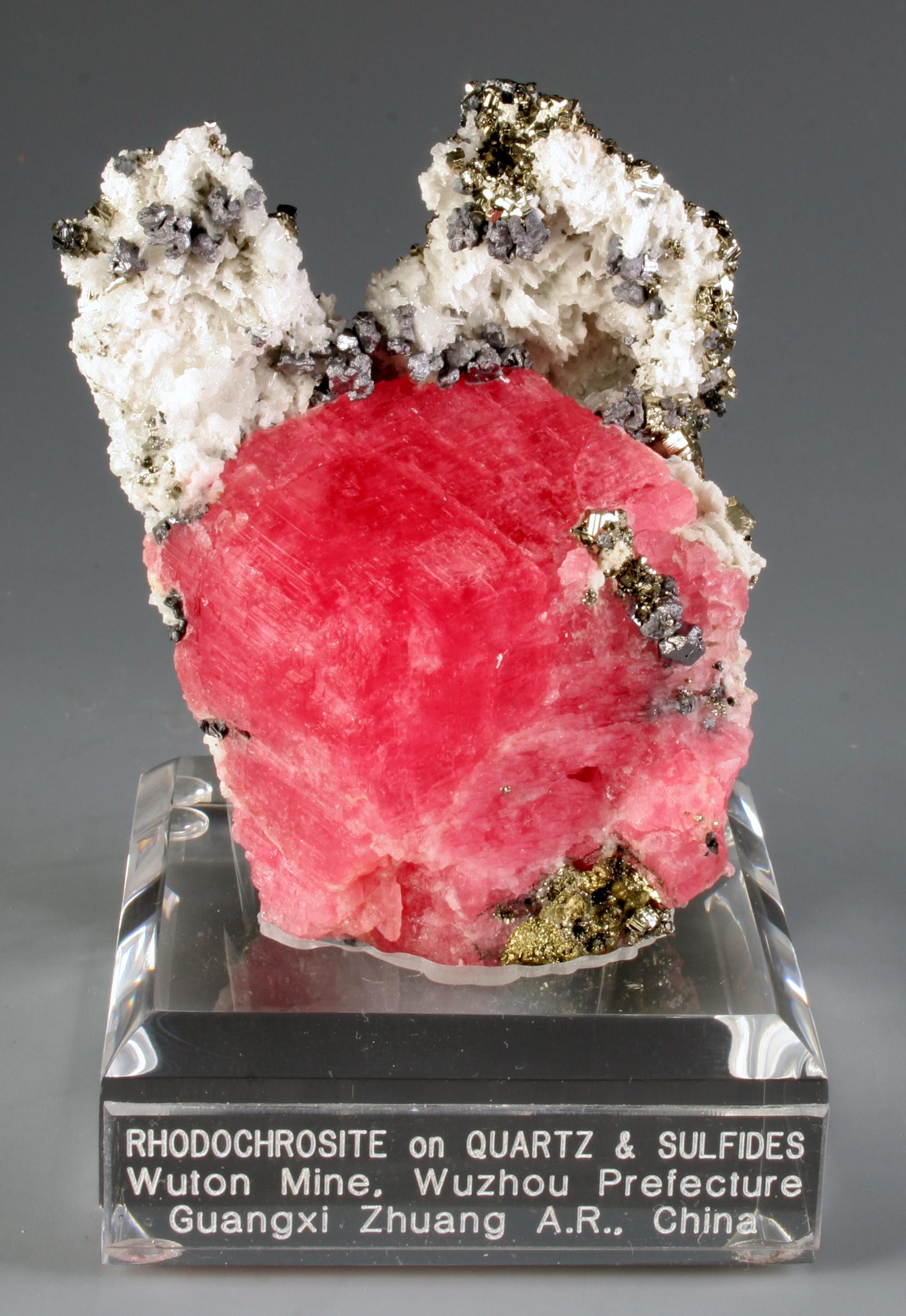 Rhodochrosite and Pyrite