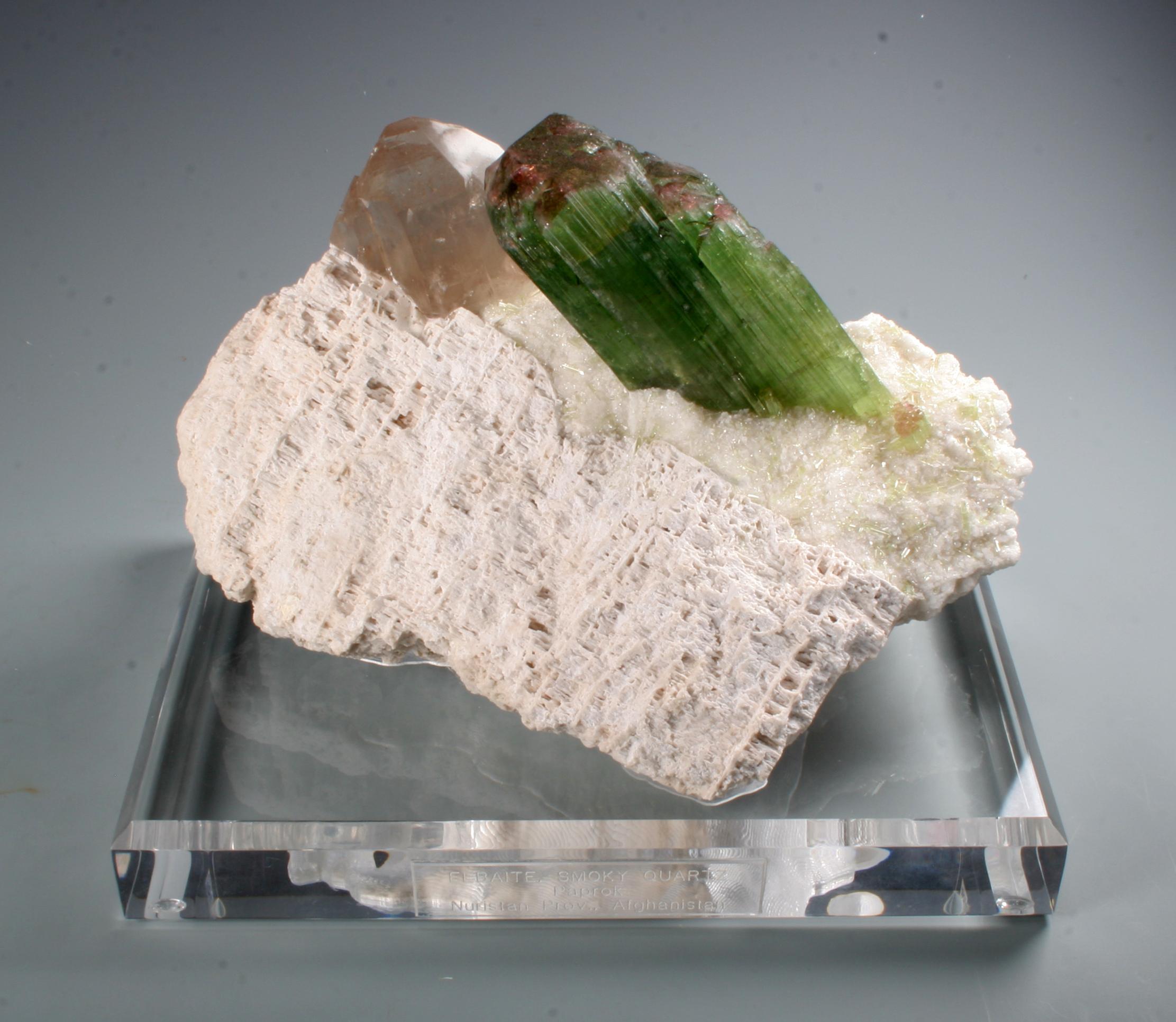 Elbait Tourmaline and quartz
