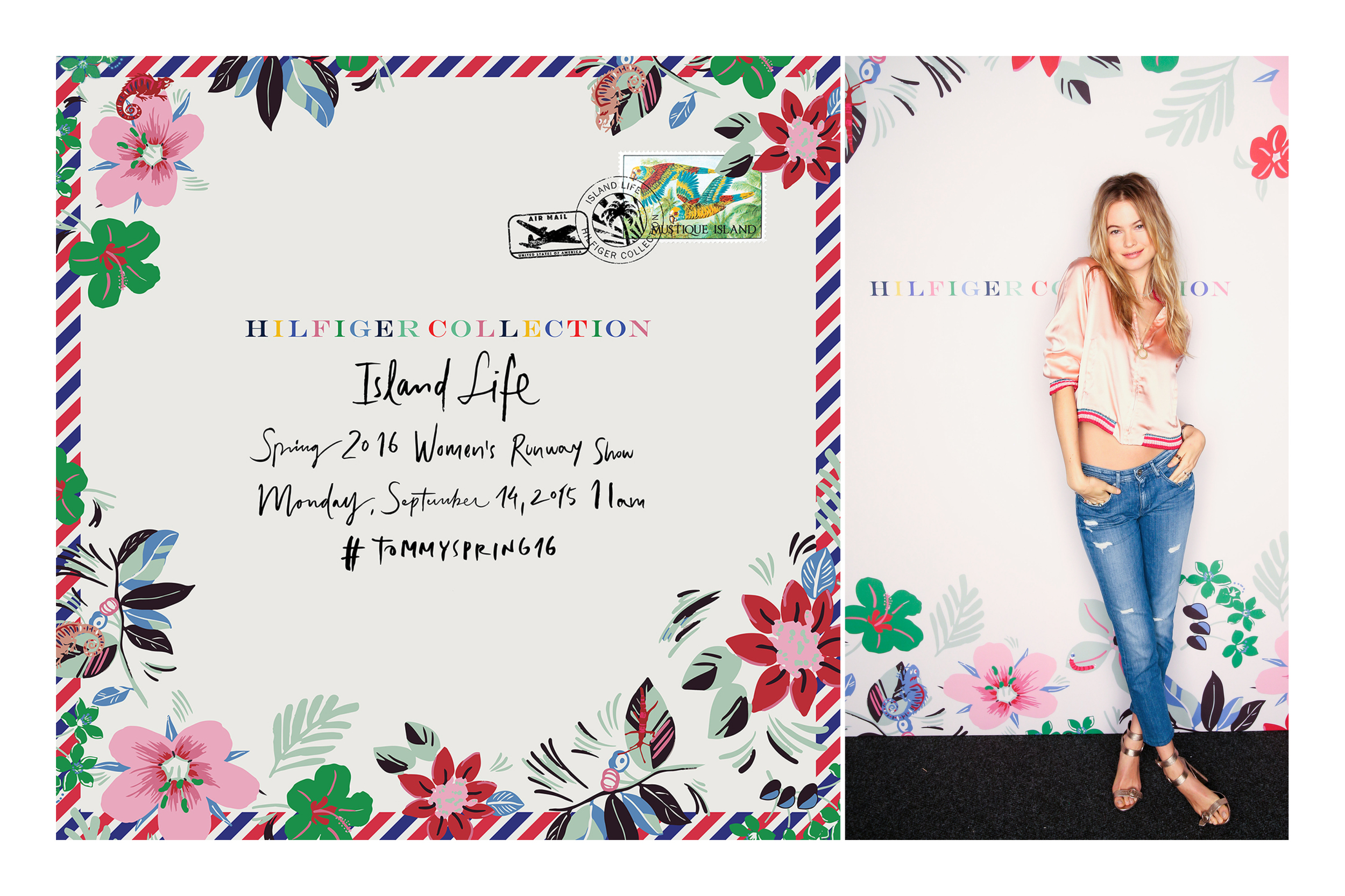 Behati Prinsloo  poses in front of our floral step and repeat.