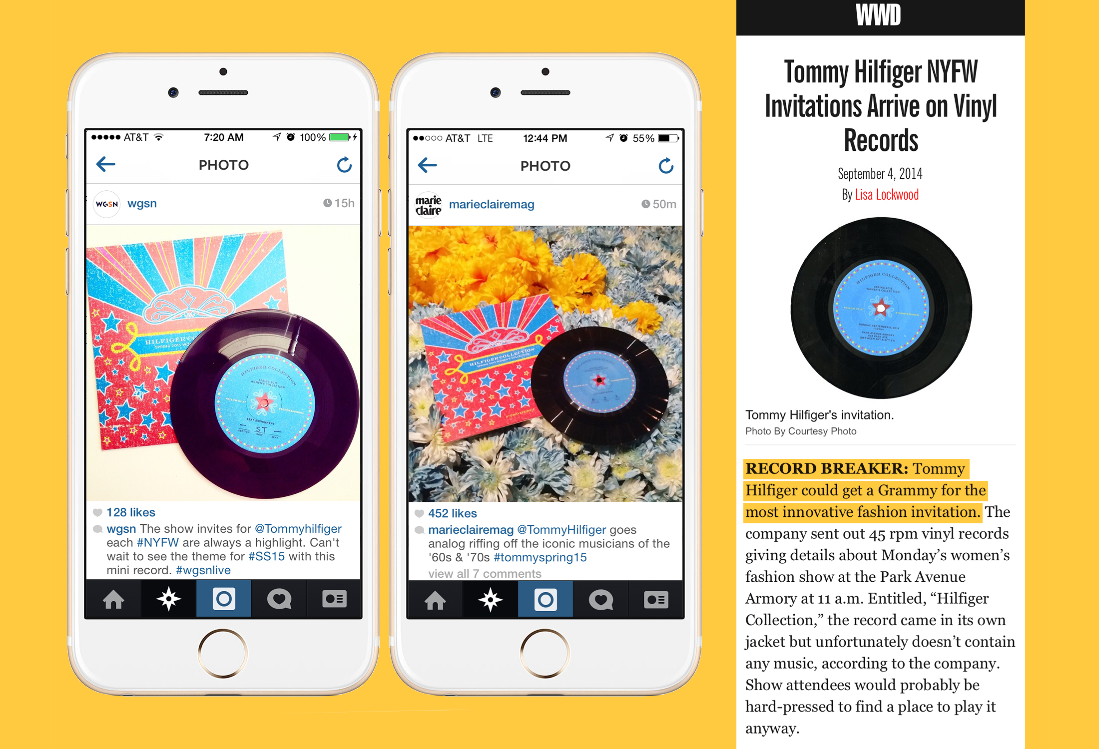 Setting a new record with shout-outs from  WWD ,  Marie Claire  and  WGSN .