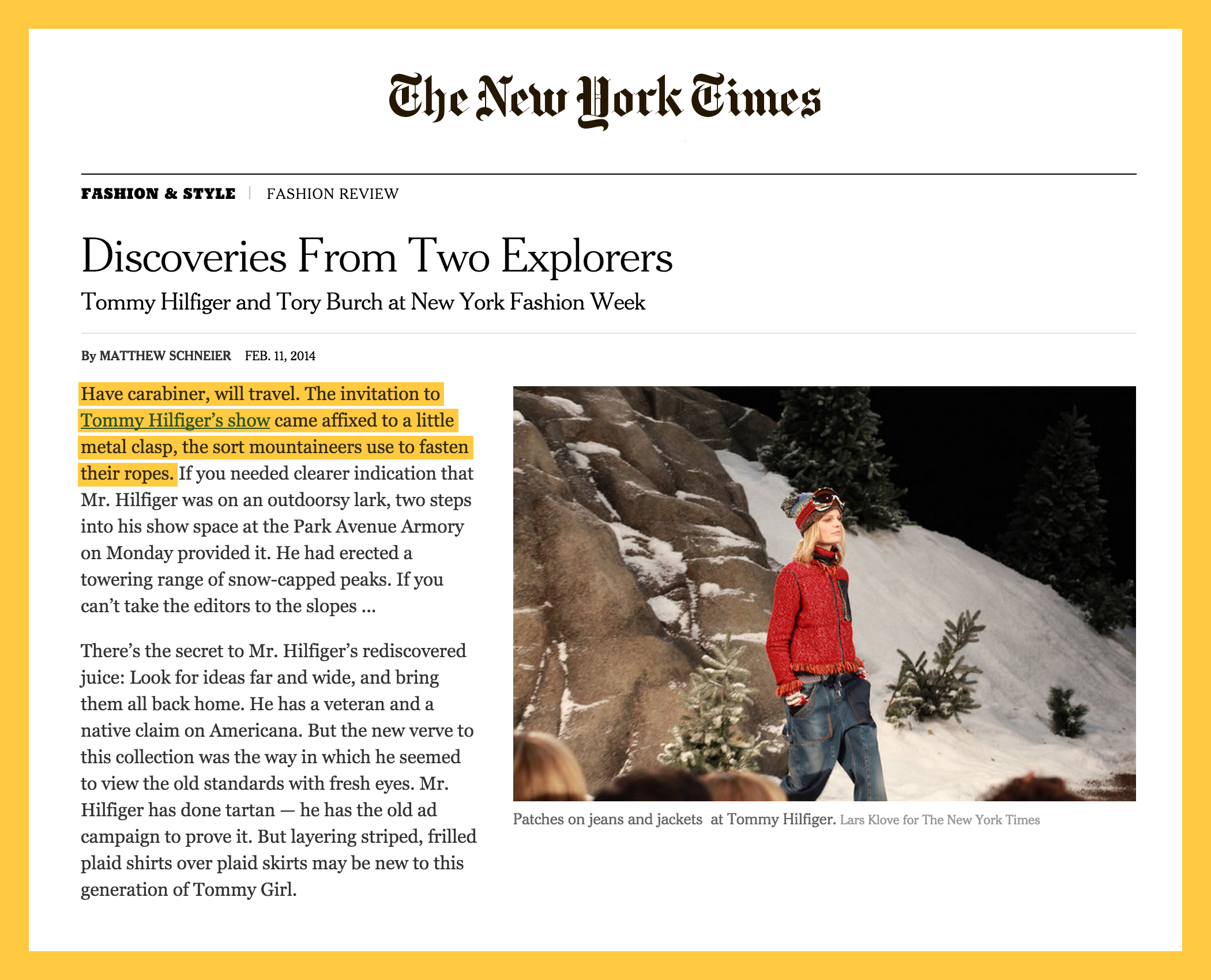 Reaching the peak with  The   New York Times    coverage.
