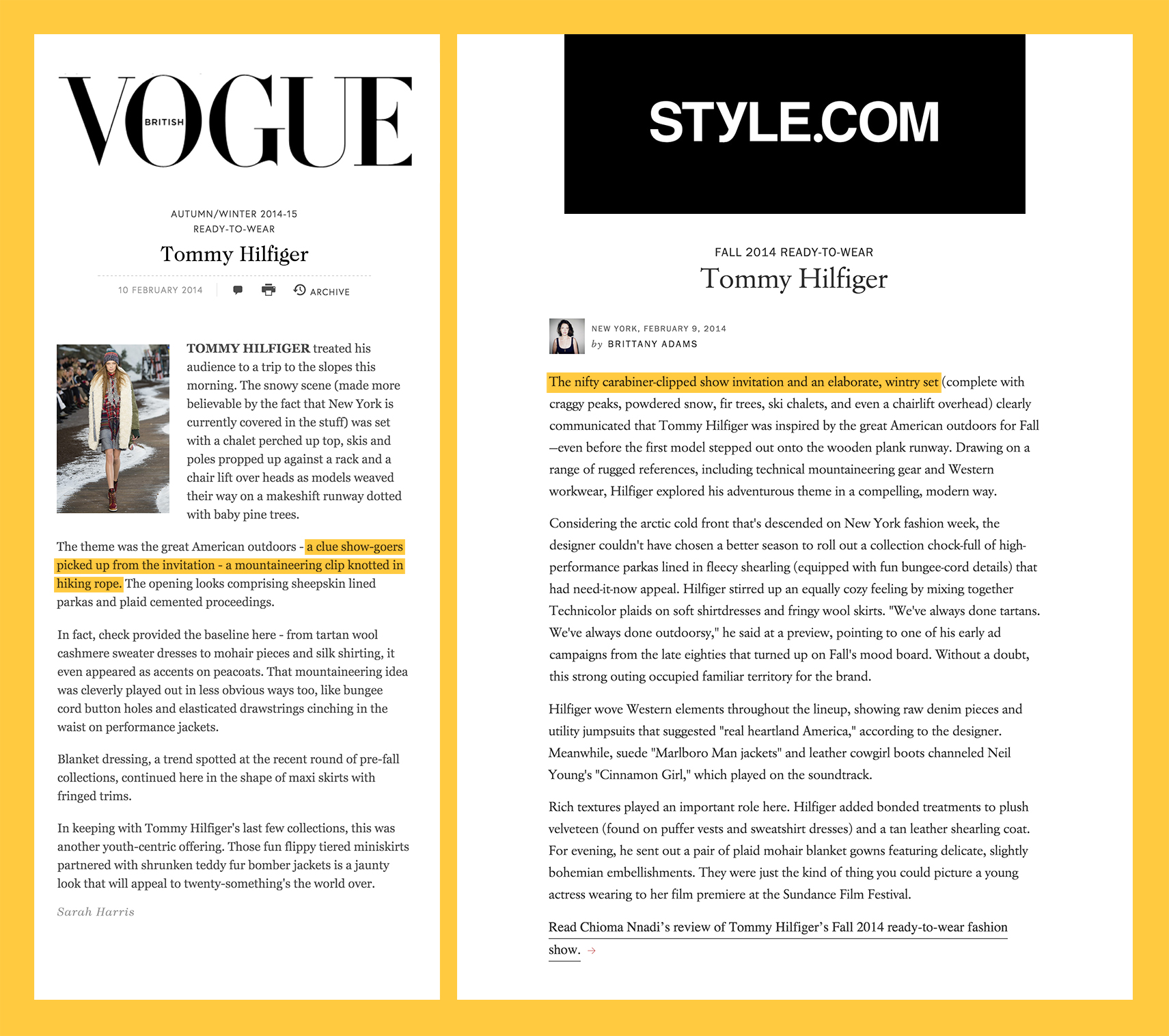 Ain't no valley low with  British Vogue  and  Style.com .
