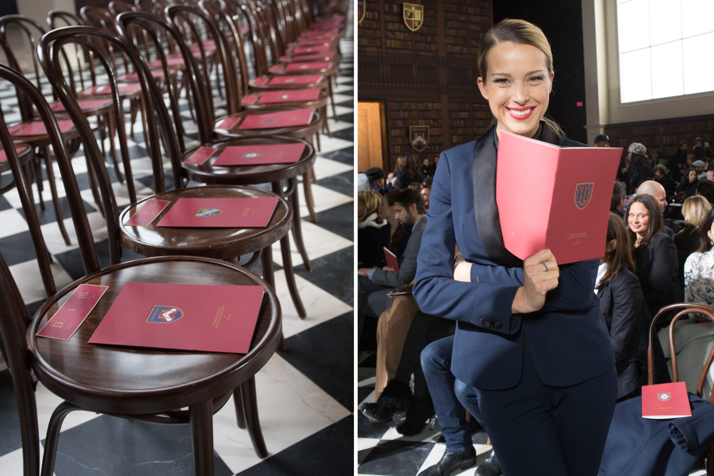 Petra Nemcova  reads quietly but with a smile.