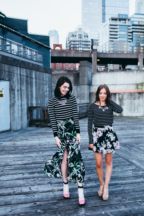 Floral-and-stripes-outfits