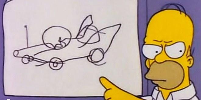 Homer Simpson car vision:  The Homer