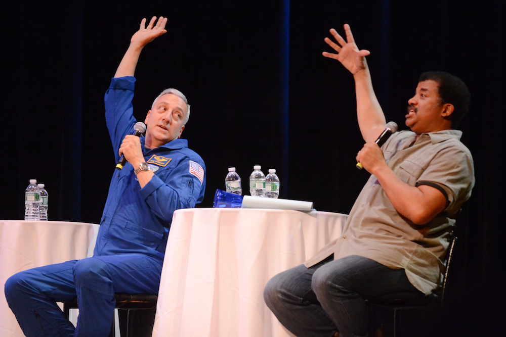 Astronaut Mike Massimo and Neil discuss space