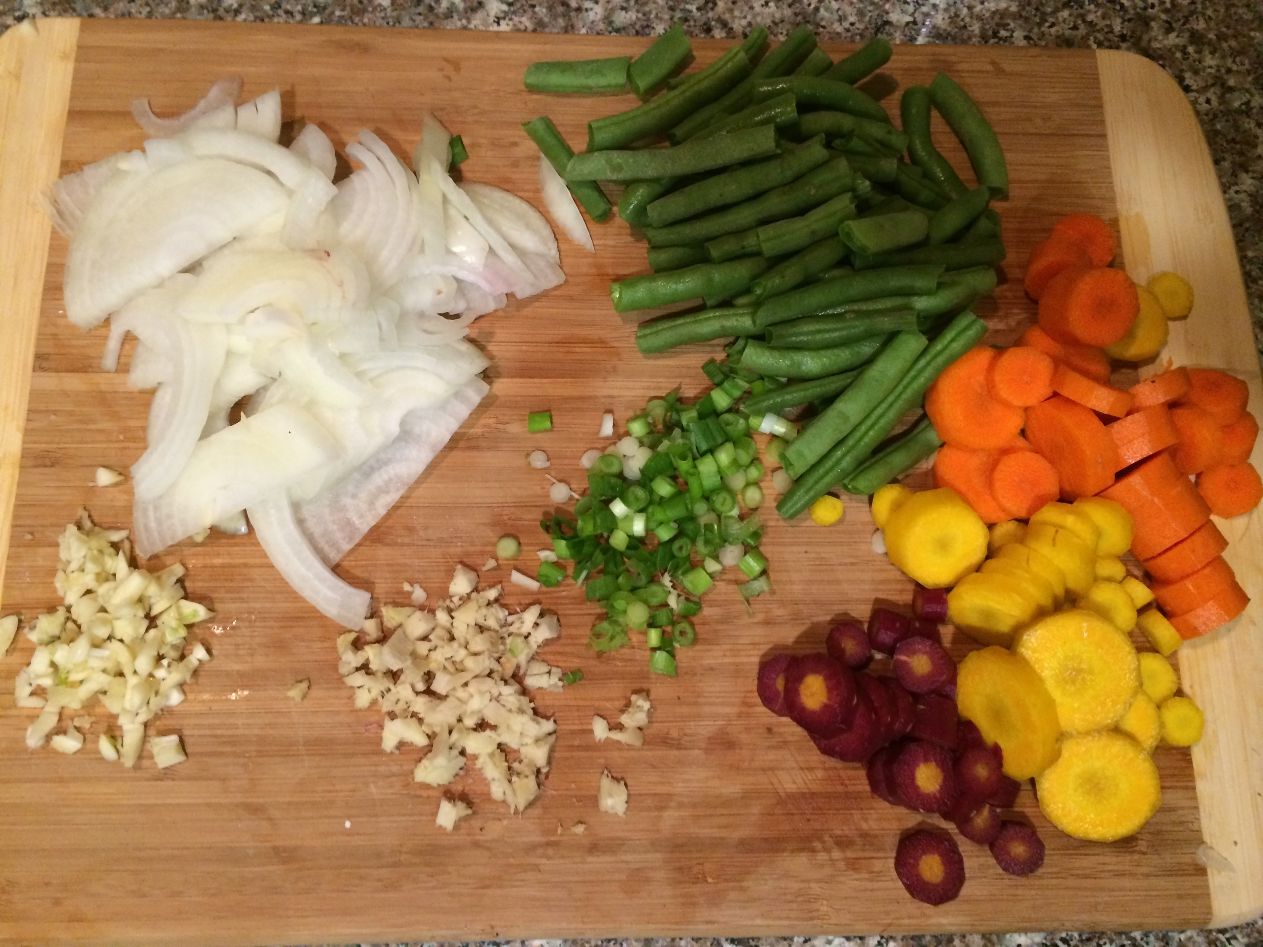 Leek & Garlic Fried Rice Ingredients