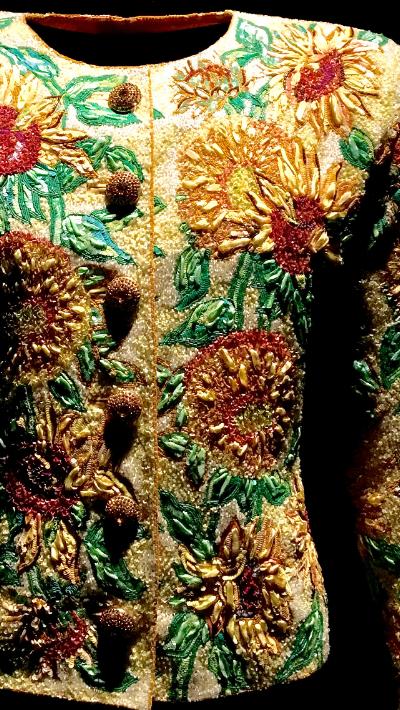 Vincent Van Gogh's Sunflowers Haute Couture 1988 - Van Gogh's Sunflowers Haute Couture SS 1988