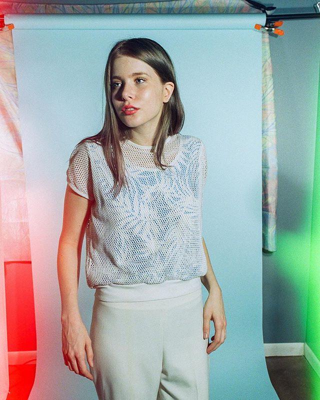 #PsychedelicBlues  Model: @kyrstenmarieathan  Wardrobe + styling: @rolandfitz.me  Film: Psychedelic Blues Camera: #canon1v Scan/ dev: @thefindlab
