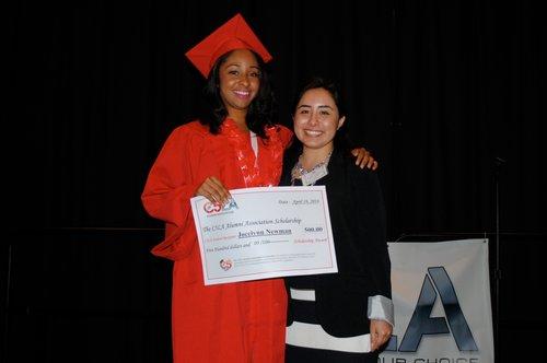 Jocelynn Newman (left) Class of 2014. Gabriela Miranda (right) Class of 2008