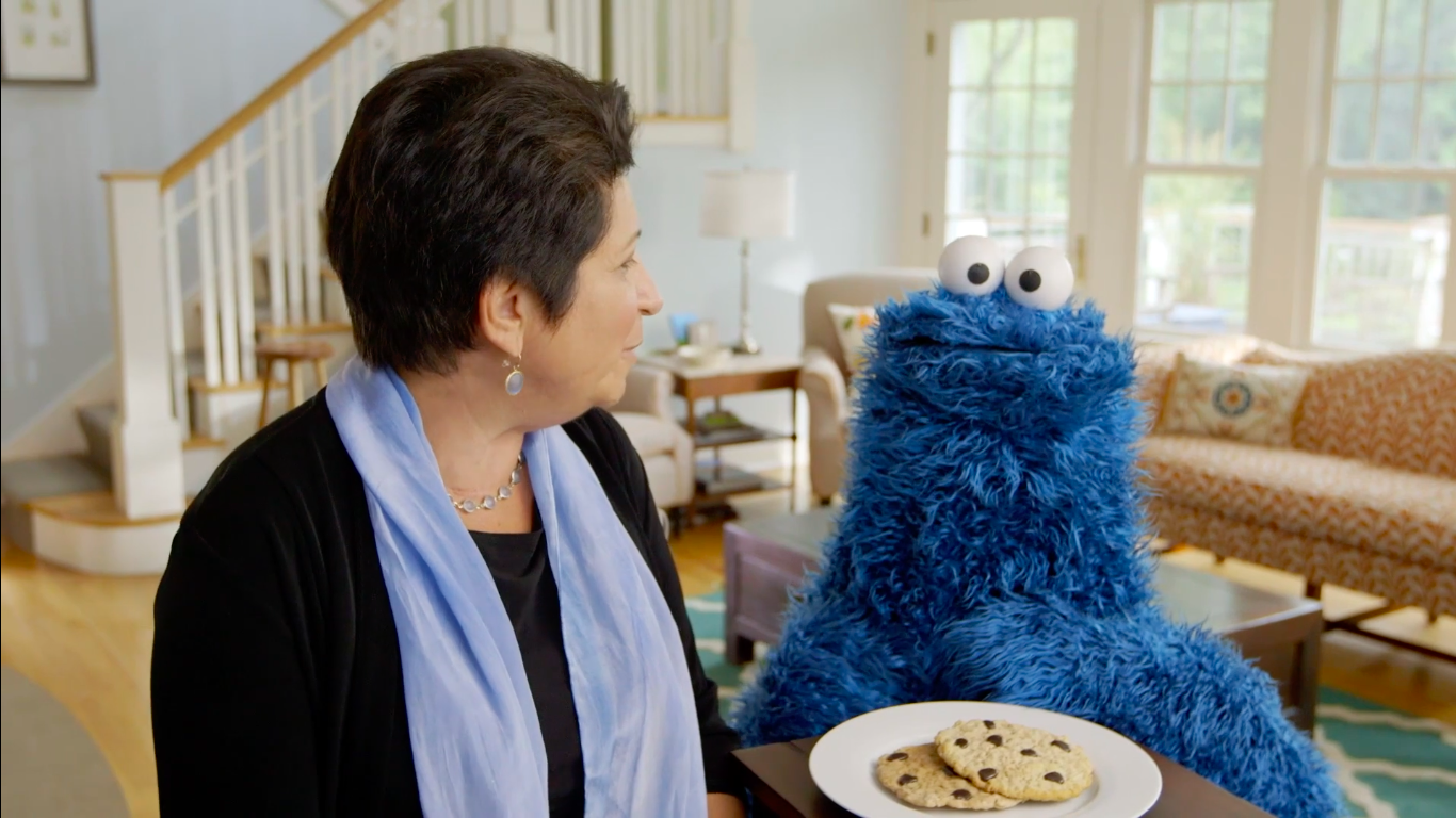Cookie Monster and Rosemarie Truglio - NO SMALL MATTER
