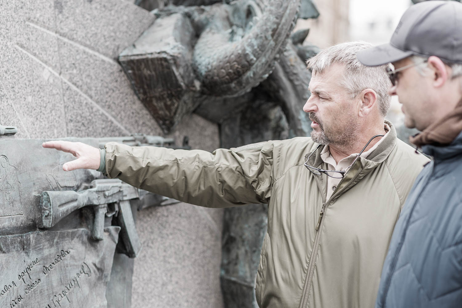 Larry Vickers and Maxim Popenker | Mikhail Kalashnikov Monument, Moscow, Russia
