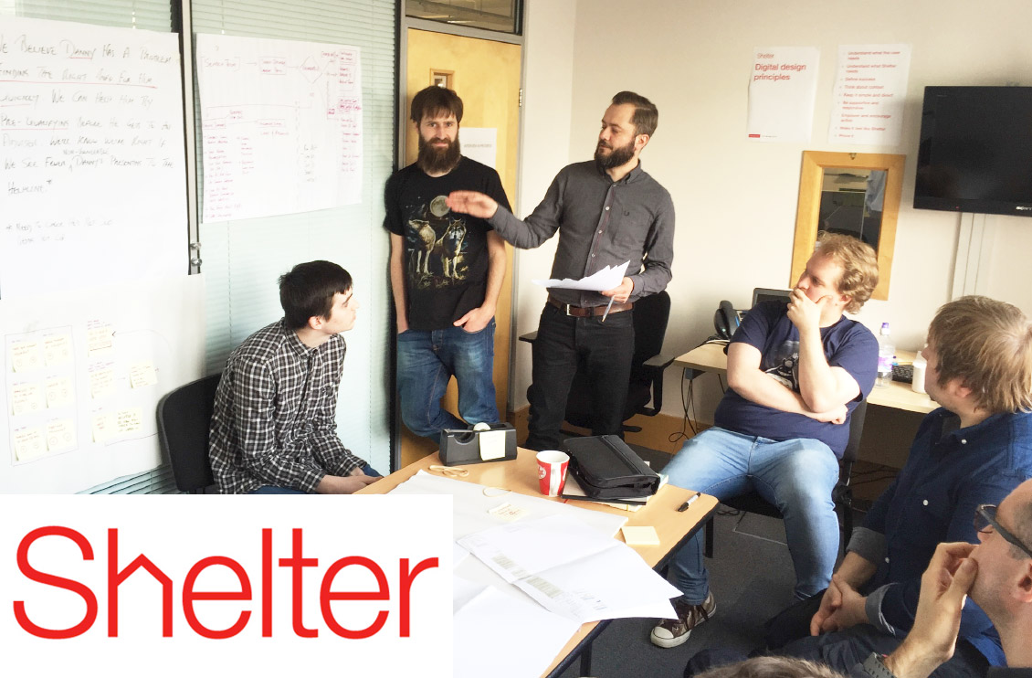 Shelter and partner Joylab during a lab session