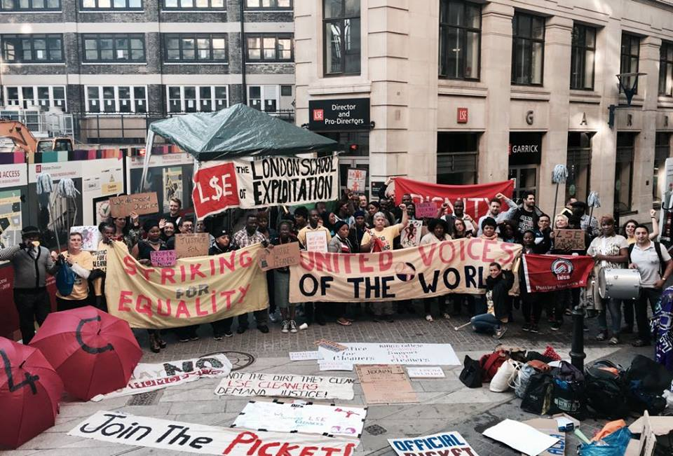The campaign - Alba, a cleaner at LSE for over a decade, was unfairly dismissed after rising ranks to Supervisor and then Office Administrator. UVW had already fought to reinstate three of her colleagues, and now sought justice for dozens of cleaners outsourced by LSE to Noonan Services, owned by a ruthless