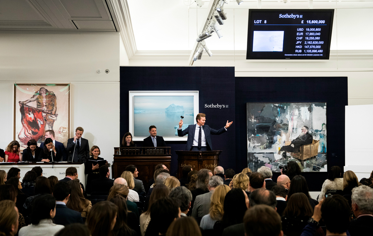 THE crime scene - Sotheby's was established in 1744 in London, and is now headquarted in New York. The company has auctioned a Roman sculpture for $28m, a Mesopotamian sculpture for $57m, a Picasso for $95m, and an original
