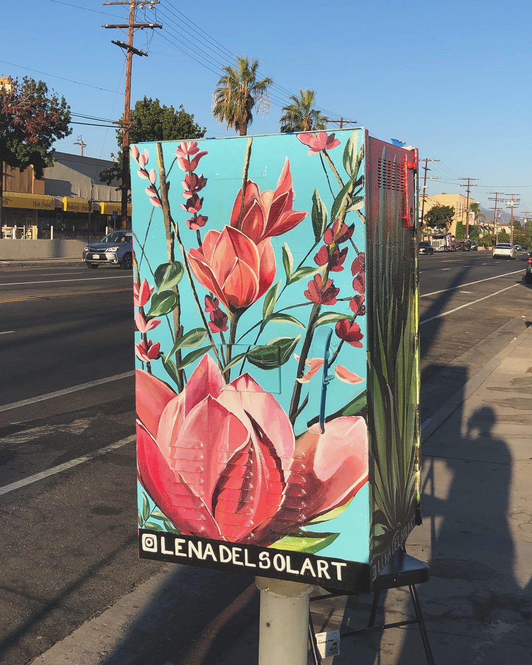 North Hollywood Public Art / Utility Box Project - side 1 / Lena del Sol Fine Art