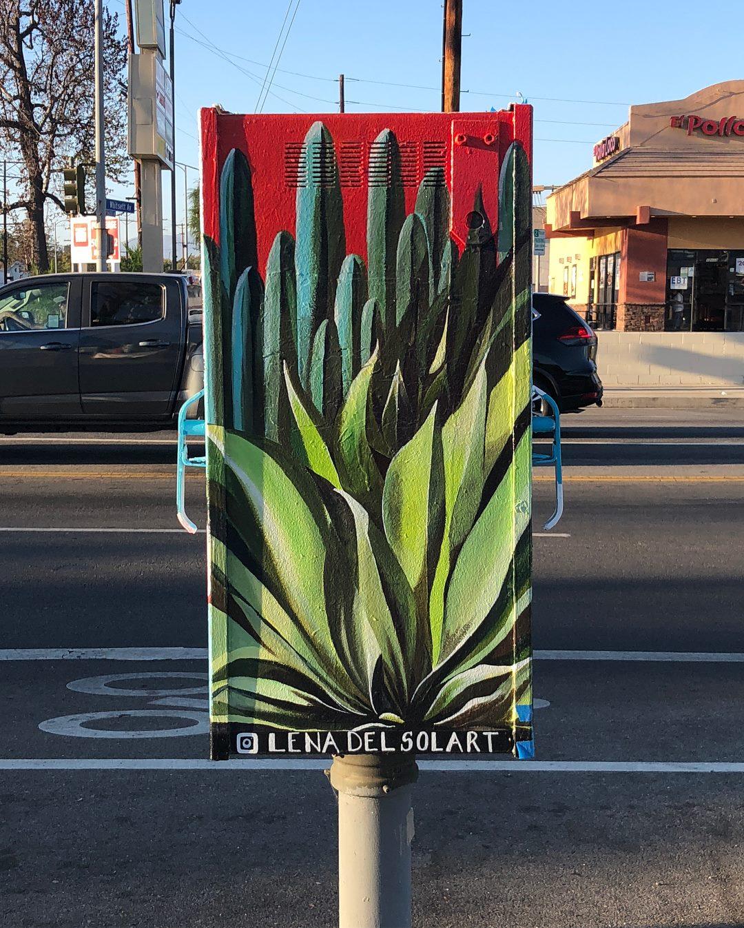 North Hollywood Public Art / Utility Box Project - side 2 / Lena del Sol Fine Art