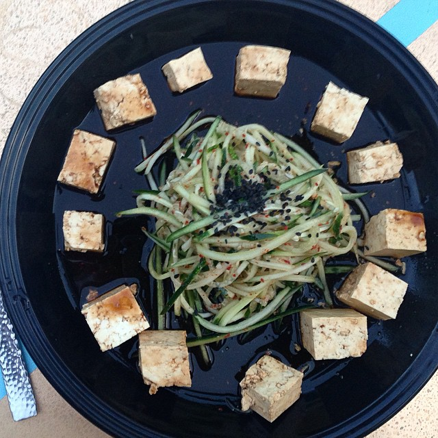 Kimchi quick pickle salad with ponzu tofu third day in a row #vitaleats #vitaleatsllc #vegan #vegansofig #whatveganseat #poweredbyplants #plantbased #kimchi #kimchipicklesalad #eatgreen #donteatyourfriends #troyfarmersmarket #spacityfarmersmarket #saratogafarmersmarket #eatwithyoureyes #eastcoastvegans #vsco #vscocam #veganfoodporn #foodporn #killthemwiththeculinaryskills