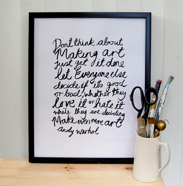 Love this quote and how Jenny over at Coo & Co has beautifully designed it!