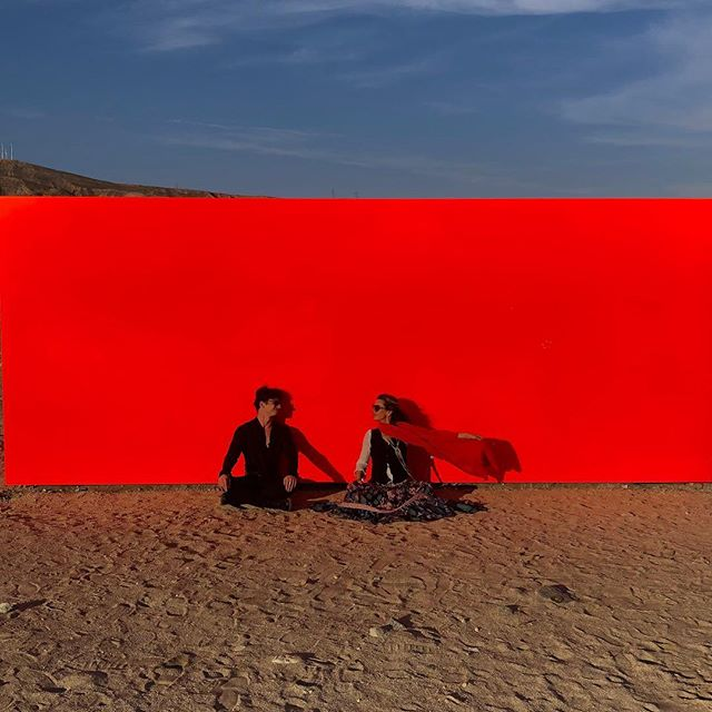 #desertx  SPECTER 2019_Day1 with my two darlings _ Fluorescent orange Monolith _ Minimal and Vibrant #sterlingruby #specter #deserttx2019 #orangeesthetic