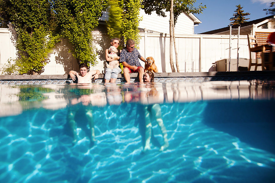 Calgary Underwater Family Photographer