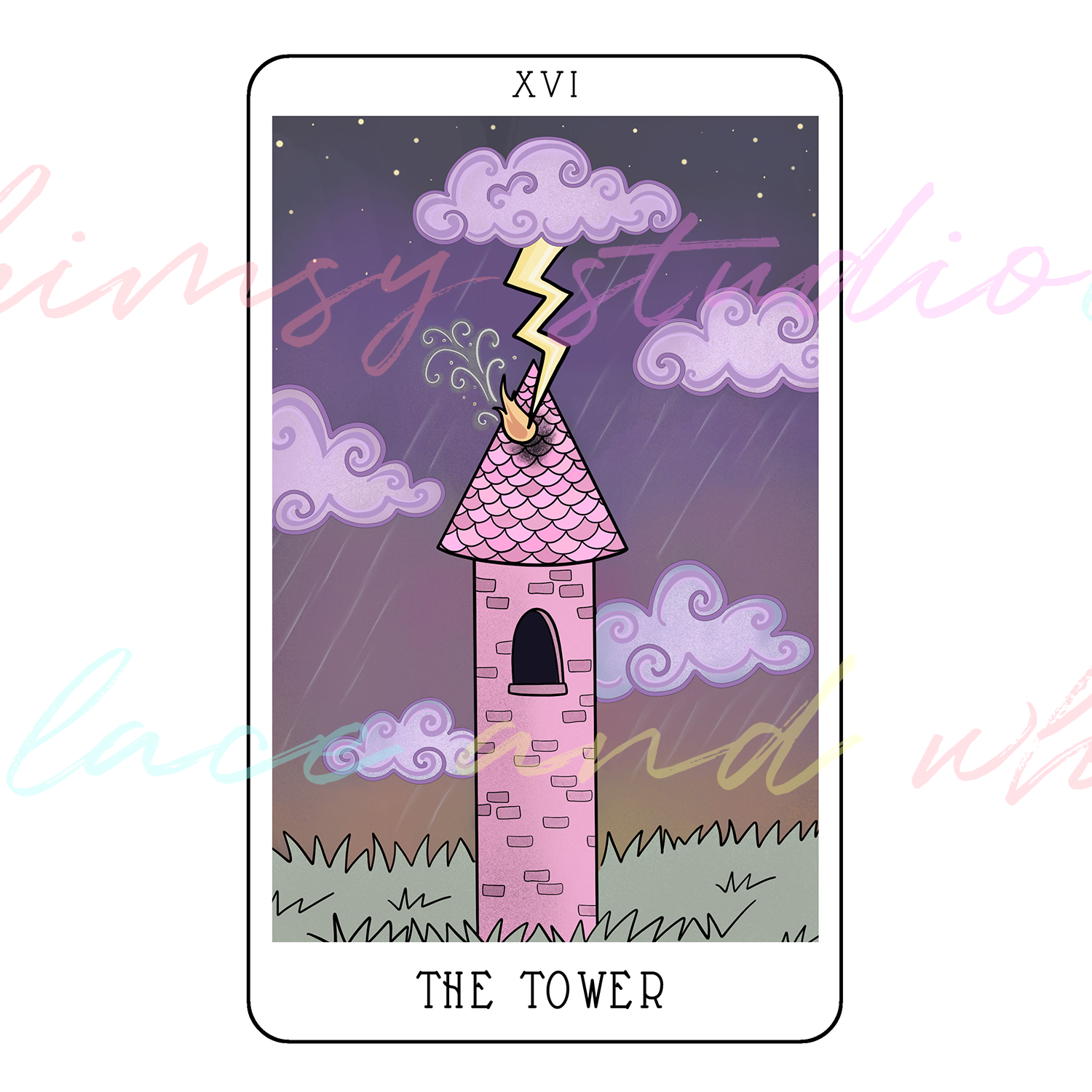 tarot-cards-illustration-series-2018-laceandwhimsy-kathy-d-clark-The-Tower.png