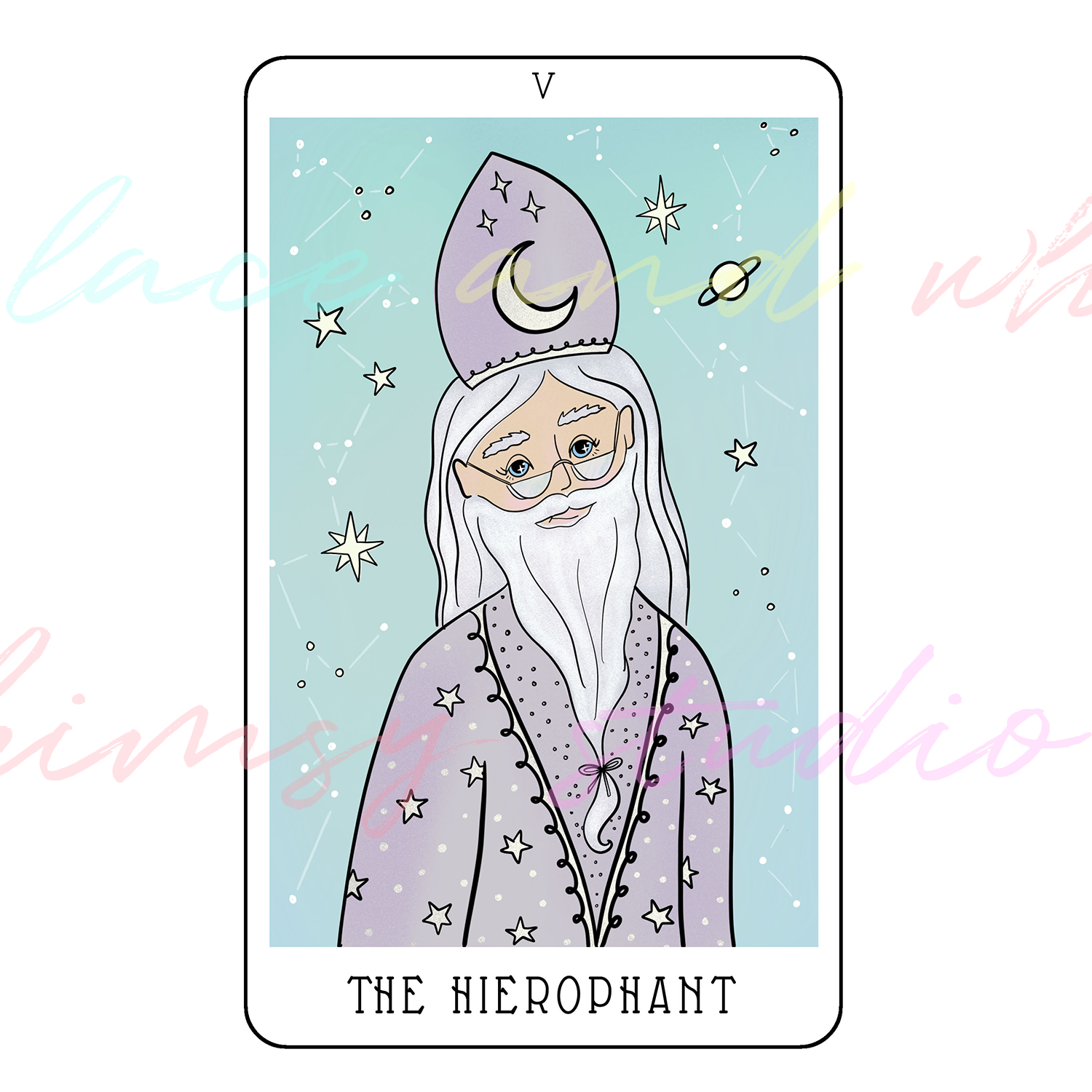 tarot-cards-illustration-series-2018-laceandwhimsy-kathy-d-clark-The-Hierophant.png