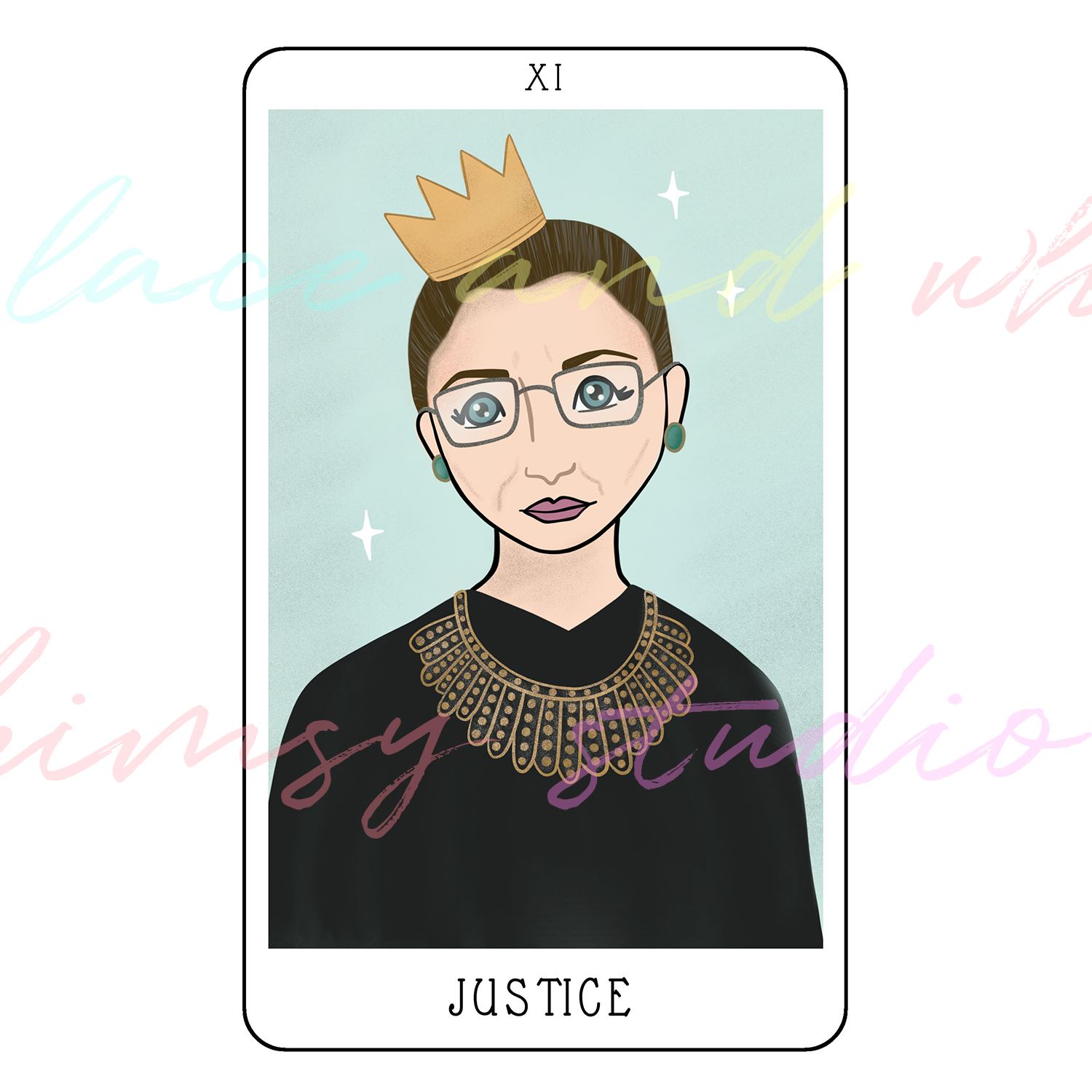 tarot-cards-illustration-series-2018-laceandwhimsy-kathy-d-clark-Justice.png