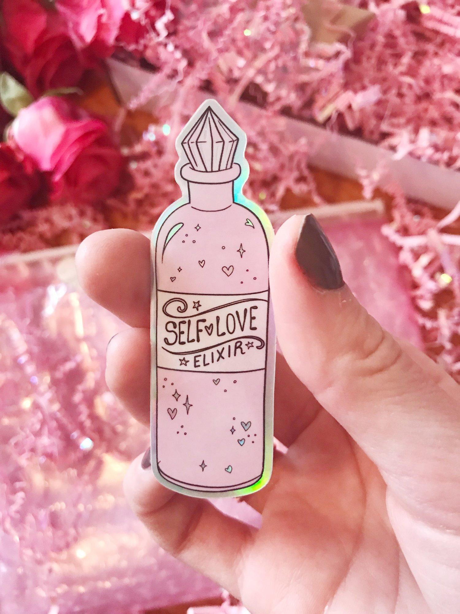 "Holographic ""Self-Love Elixir"" Sticker"