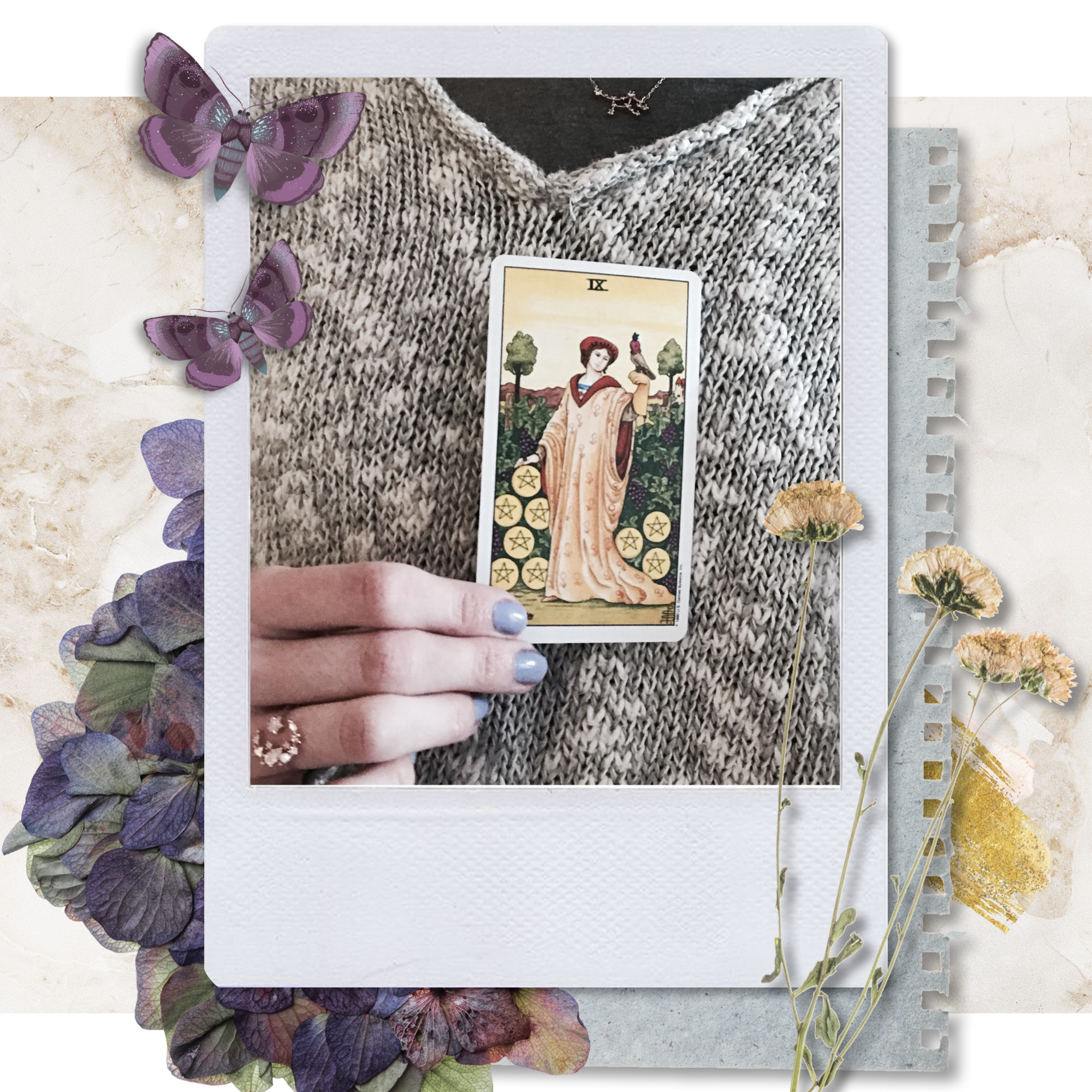 the-nine-of-pentacles-laceandwhimsy-tarot