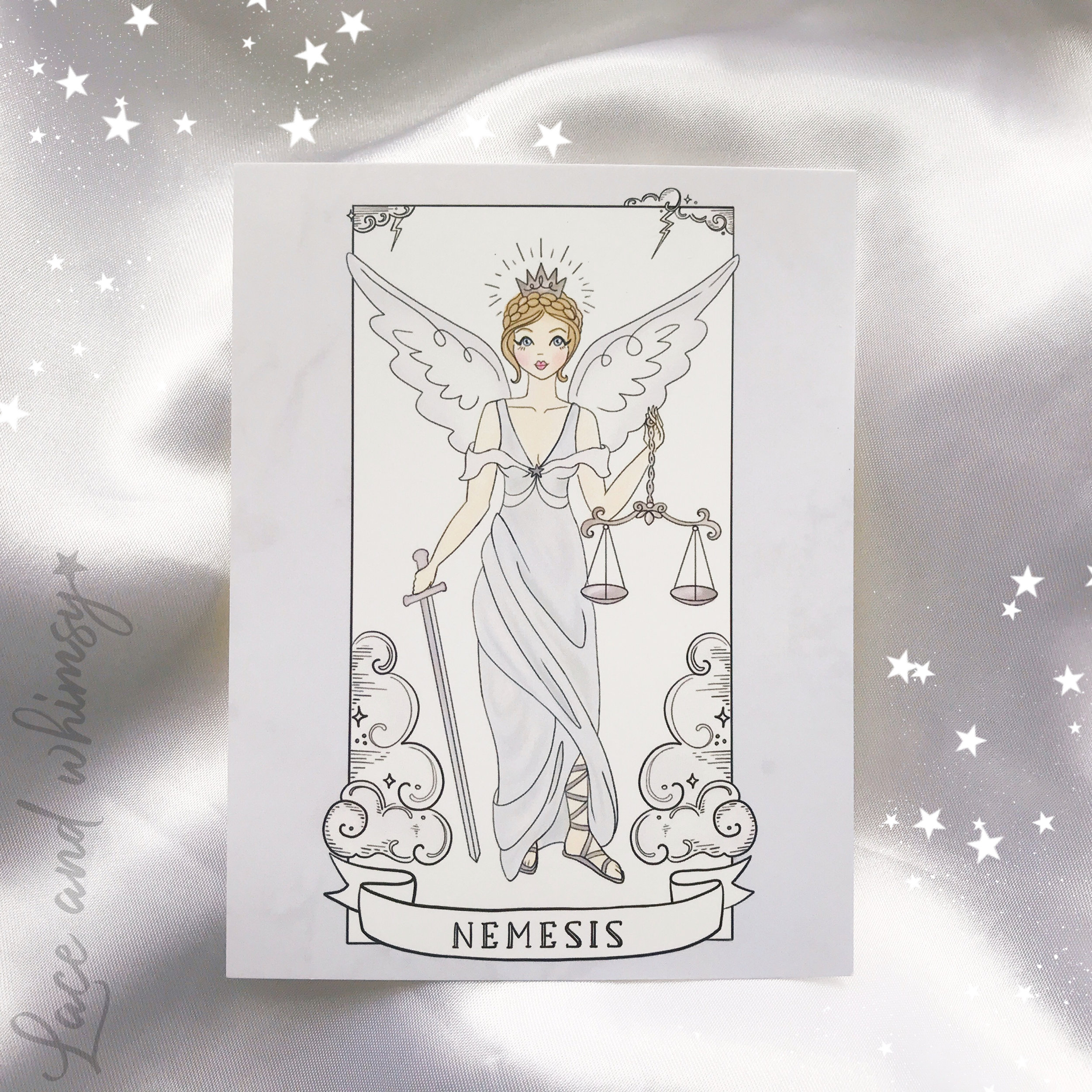 Nemesis - goddess of divine retribution.