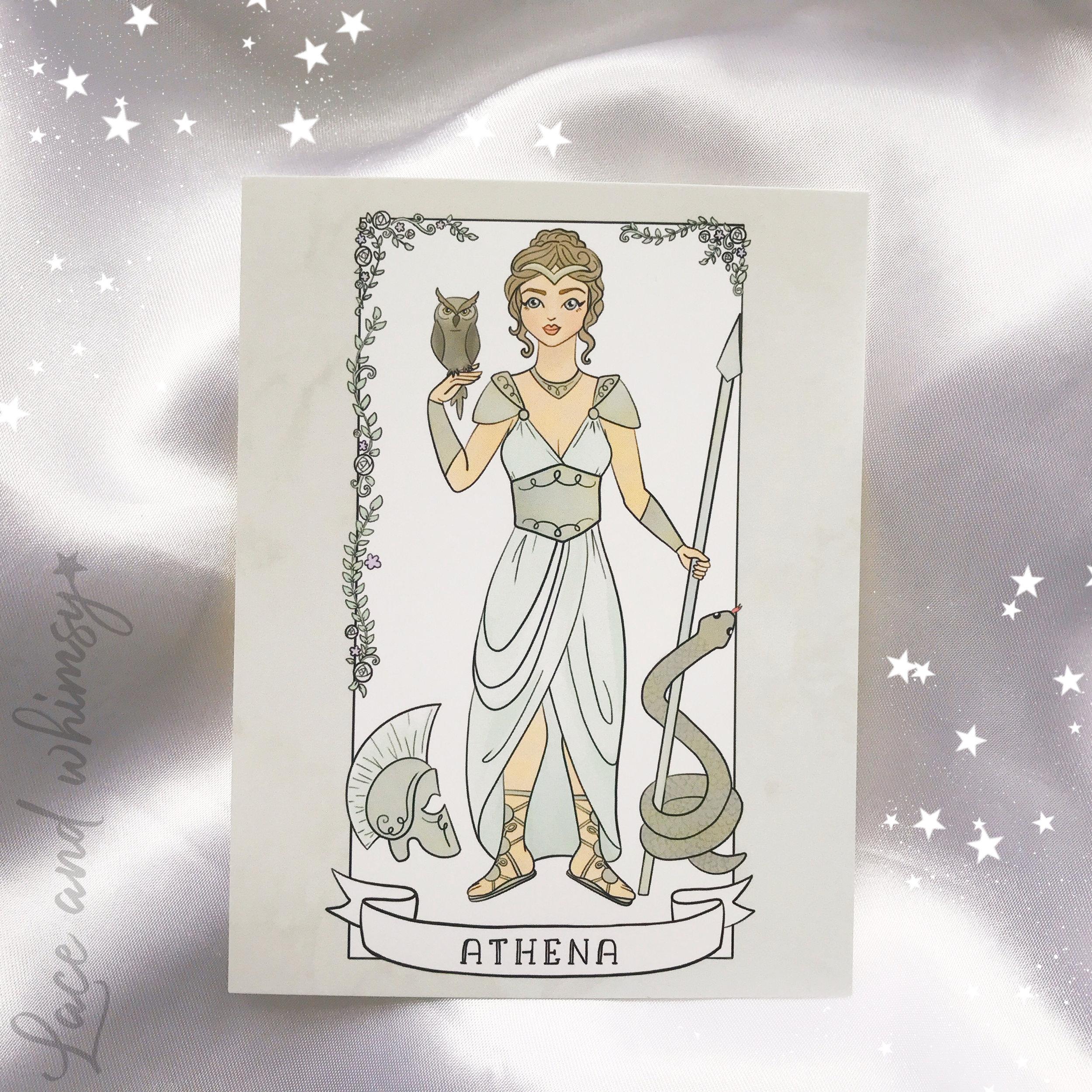 Athena - goddess of victory and wisdom.