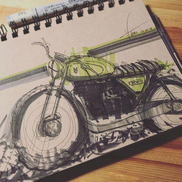 MOTO SCRIB II ✖️ #sketch #caferacer #hondacb