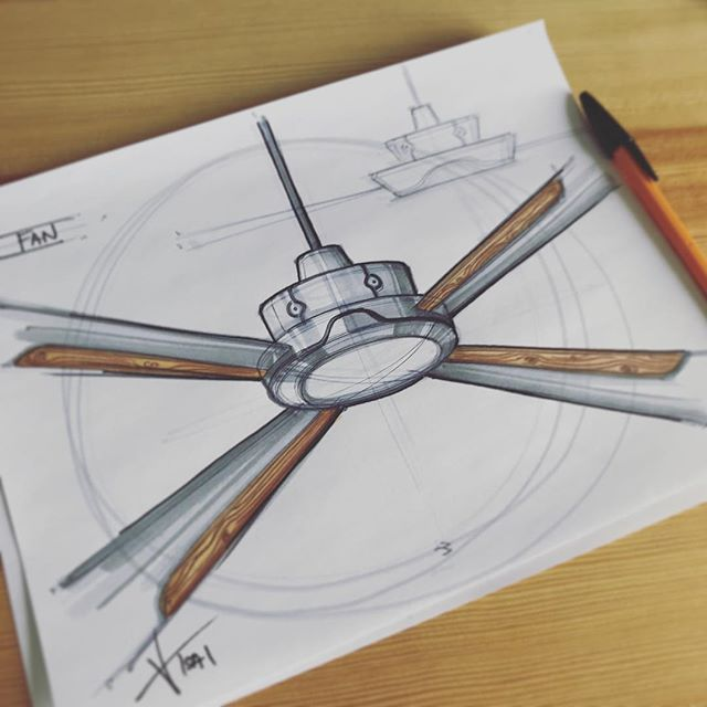 ✖️Quick afternoon ceiling fan✖️ #sketching #idsketching #sketch #doodling #designsketch #industrialdesign #productdesign #design #id #sketchbook #ideation #weeklydesignchallenge #analogsketch #productsketch