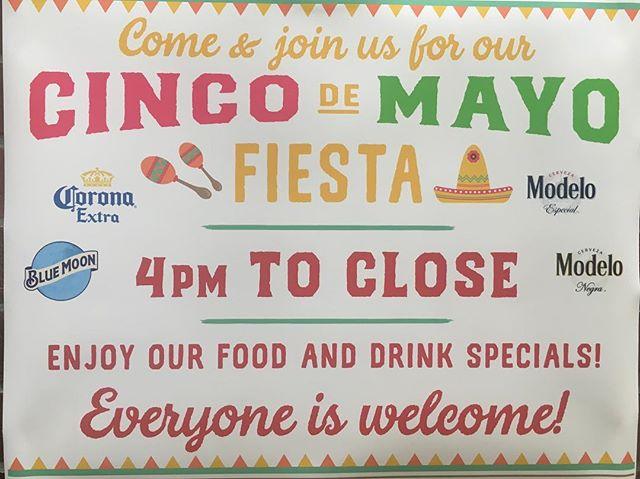 Join us for Cinco de Mayo!!!!! #cincodemayo #mexicanfood #kickssportsandgrill #sportshouse