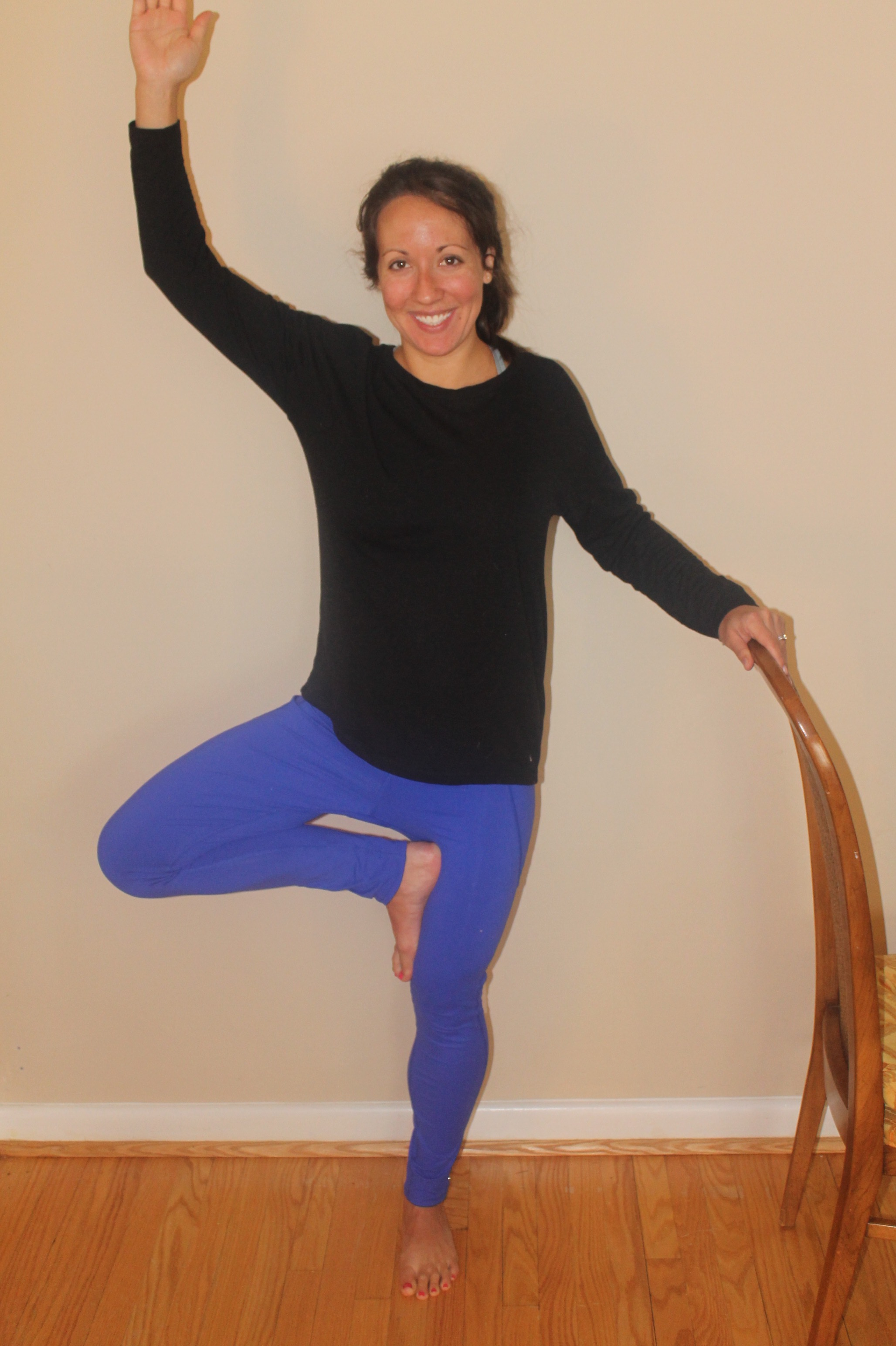 figure 5: Dr. Heppe demonstrating a more difficult tree pose.