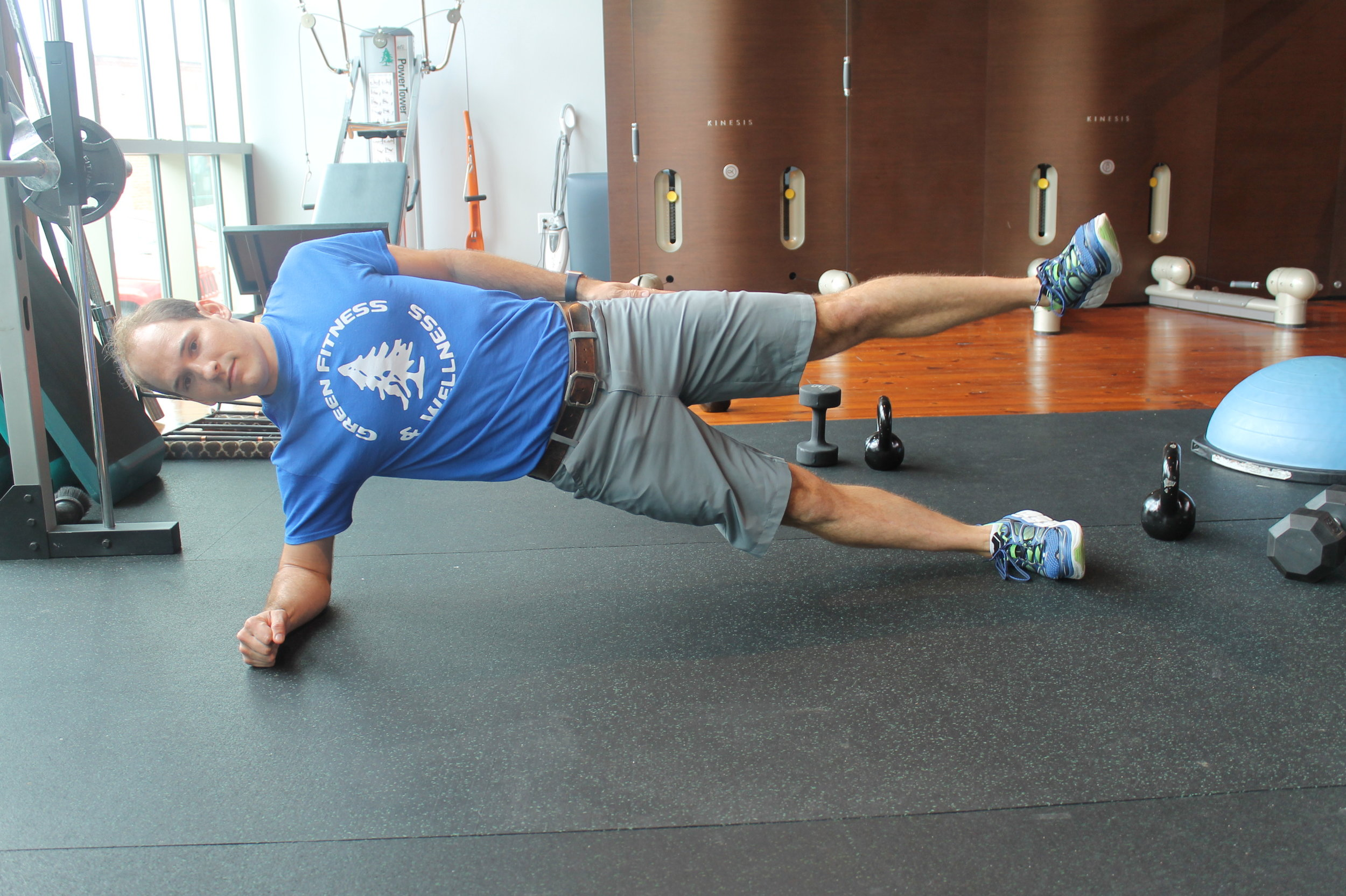 here is an advanced version of side plank.