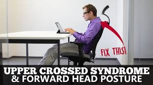 Example of bad posture that is  exacerbated by electronic devices: upper cross syndrome.