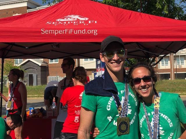Dr Scott & Dr Erica Heppe after the 2019 Historic Half marathon.